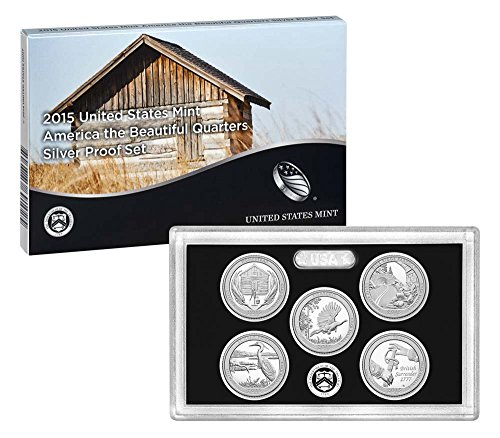 2015 America The Beautiful 2015 Silver Proof Set National Park Quarters Good