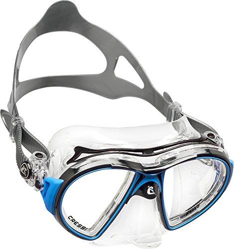 Cressi AIR, Erwachsene Premium Silikon Tauchmaske, CRYSTAL : Gelb, Blau, Weiß, Rosa, Lila, Schwarz - SCHWARZ : Gelb, Weiß, Blau, Schwarz - Made in Italy