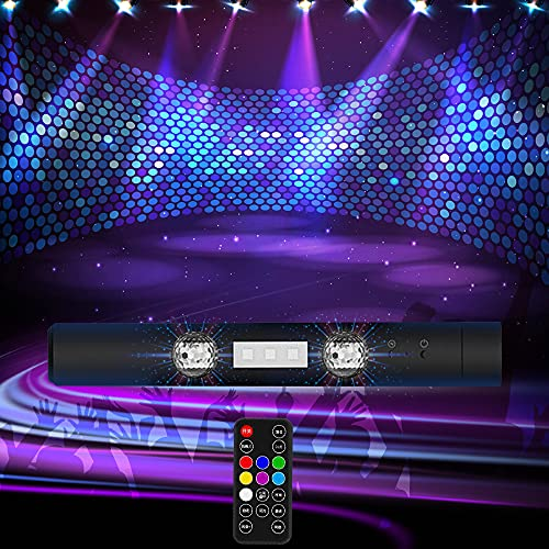Palla da Discoteca, EAMPLEST Proiettore Luci Alimentato Tramite USB Alimentata, Luci LED Interne Auto con 7 RGB Colori e 7 Modalità, Stick Luminoso Dinamico per Atmosfera Musicale, Feste, Decorazioni