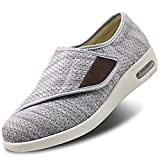 Womens Stylish Diabetic Shoes Extra Wide Widths Walking Edema Sneakers Adjustable Strap Easy On/Off...