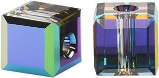 6pcs Authentic 4mm Swarovski Crystals 5601 Cube Crystal Beads for Jewelry Craft Making (Vitrail Medium) SWA-C460
