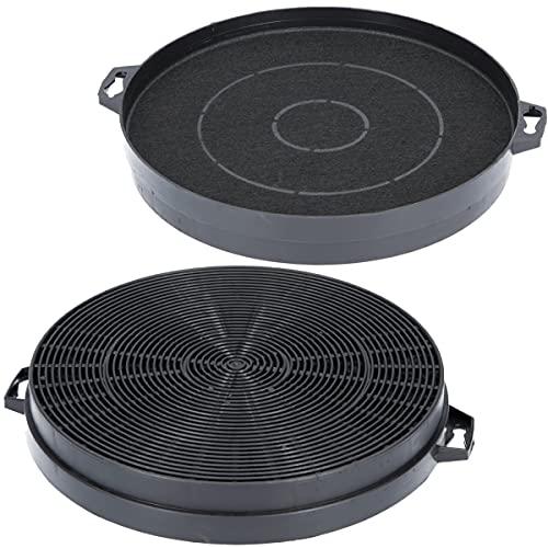 2x Aktivkohlefilter Ø 210mm für Dunstabzugshaube geeignet für Constructa 00353121, Bosch/Neff DHZ5140, Bauknecht 481281718524 AEG/Juno 902979371/9 - Filter für Abzugshaube