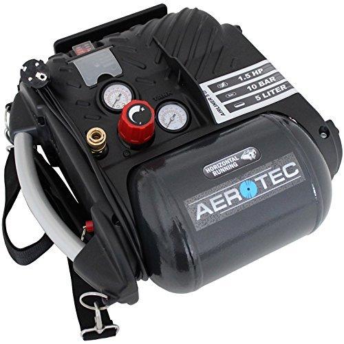 Aerotec compressor Airliner 5 Go, krachtige persluchtcompressor, olievrije zuigercompressor met 10 bar keteldruk, art.nr. 200680.0