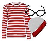 Style Wise Fashion - Juego de Camisetas para Hombre y Mujer, Color Rojo y Blanco