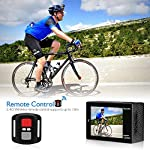 AKASO Brave 4 4K 20MP WiFi Action Camera Ultra HD with EIS 30m Underwater Waterproof Camera Remote Control 5X Zoom… 11 UPGRADE SERIES OF AKASO EK7000: Featuring 4K/24fps, 2K/30fps and 1080P/60FPS video resolution and 20MP photos, AKASO Brave 4 action camera enables you to take incredible photos and ultra HD videos, clearly recording the beauty and wonders in life! OPTIONAL VIEW ANGLE AND ANTI-SHAKING: Adjust the view angle of this action camera according to your needs between 170°, 140°, 110°, and 70°. Built in smart gyroscope for anti-shaking and image stabilization to make your video much more smooth. SPORTS CAMERA WITH WIFI AND HDMI: Sharing & editing videos from an action camera is easier with the free app. Just download the App on your phone or tablet and connect with this action camera. Wi-Fi signal ranges up to 10 meters. With HDMI Port allows you to connect it with television.