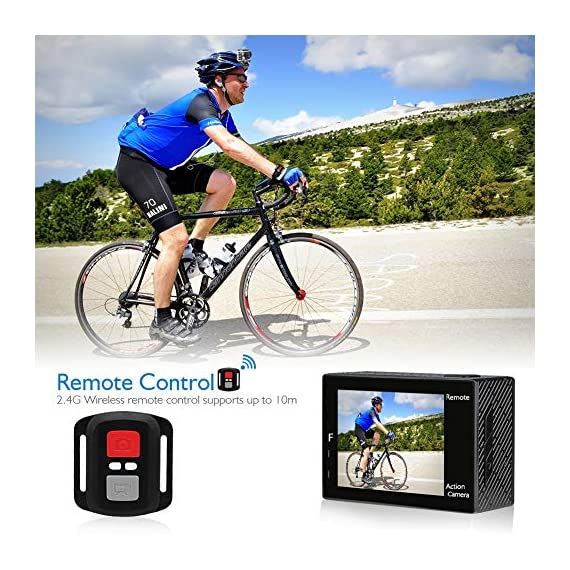 AKASO Brave 4 4K 20MP WiFi Action Camera Ultra HD with EIS 30m Underwater Waterproof Camera Remote Control 5X Zoom… 3 UPGRADE SERIES OF AKASO EK7000: Featuring 4K/24fps, 2K/30fps and 1080P/60FPS video resolution and 20MP photos, AKASO Brave 4 action camera enables you to take incredible photos and ultra HD videos, clearly recording the beauty and wonders in life! OPTIONAL VIEW ANGLE AND ANTI-SHAKING: Adjust the view angle of this action camera according to your needs between 170°, 140°, 110°, and 70°. Built in smart gyroscope for anti-shaking and image stabilization to make your video much more smooth. SPORTS CAMERA WITH WIFI AND HDMI: Sharing & editing videos from an action camera is easier with the free app. Just download the App on your phone or tablet and connect with this action camera. Wi-Fi signal ranges up to 10 meters. With HDMI Port allows you to connect it with television.