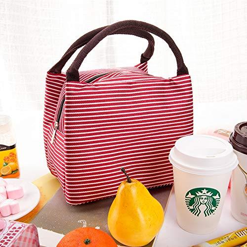 HeBiShiZeLiJianCaiXiaoShouYouXianGongSi Isolierung-Speicher-Beutel-Handtasche Multifunktionstuch Hitze Erhaltung Kälte, Größe: 23x17x15cm, einfach und elegant (Color : Red)