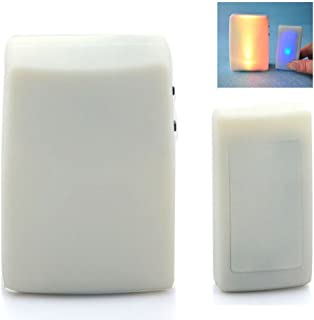 Anpress 7 Color Lights Flash + Music Doorbell, Wireless Doorbell, The Deaf/Hard of Hearing Favorite, Music Can Be Changed