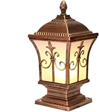 Post Light Outdoor Gate Lamp, Outdoor Aluminum Pillar Post Lights European Villa Outdoor Waterproof Pole Column Head Lamp ...