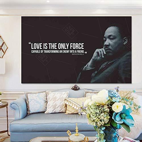 jiushice Rahmen Liebe ist die einzige Kraft! Inspirierende Zitate Kunst Leinwand ng Home Decor Poster Hd Print Wandbild 30x40cm