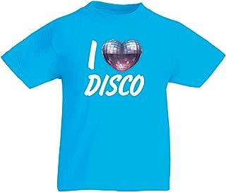 lepni.me T Shirts for Kids I Love Disco - Retro Music Clothing