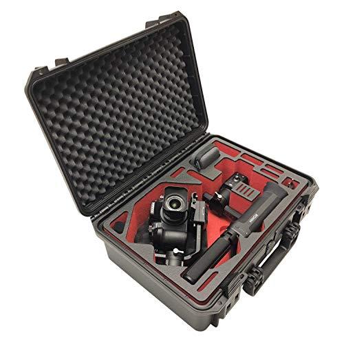 Maleta de Transporte Premium para el dji Ronin-S Gimbal - Exclusivo con Ejes balanceados y cámara montada Lista para filmar, IP67 Prueba de Agua - Made in Germany (dji Ronin-S, Negro/Rojo-Negro)