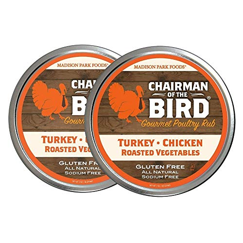 Madison Park Foods - Chairman of the Bird Gourmet Poultry Rub | Classic Herb Seasoning Spices - All Natural, Gluten Free, No Salt, No MSG, 2.0 oz Gourmet Spice Tin (2 Pack)