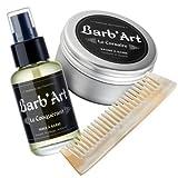Pack entretien barbe Conquérant ● Barb'Art ® N°1 Français depuis 2015 ● Nourrit, adoucit,...