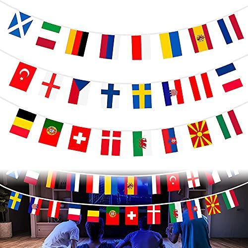 Países Banderas, Campeonato De Fútbol Europeo Banderas de Países Diferentes, Copa Europea Bandera, para Olímpicos, Copa del Mundo, para decoración de jardín, bar y fiesta