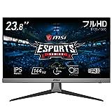 【Amazon.co.jp限定】MSI Optix G242 ゲーミングモニター 高画質IPS平面パネル スリムベゼル 鮮やかな発色 フルHD/23.8インチ/144Hz/1ms/Adaptive Sync/HDMI/DP/3年保証
