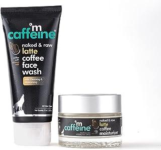 mCaffeine Daily Skin Moisturizing & Repair Kit - Latte Coffee Routine  Face Wash, Moisturizer   All Skin Types   Cruelty F...