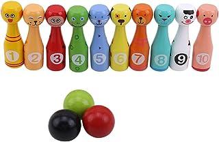 Eleusine Jeu de quilles Jouet Jeu de quilles de Bowling int/érieur ext/érieur avec Boules pour Enfants