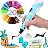 Penna 3D, 3D Penna Stampa con Schermo LCD e Controllo della Temperatura, con filamento di 20 colori,...