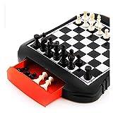Juego de ajedrez Juegos Viajes Adultos Junta de niños Juego de ajedrez de Viaje magnético con Tablero de ajedrez Plegable Juguetes educativos (Size : 8.7x6.3in)