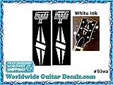 Gibson Hondo Guitar Decal Headstock Waterslide Restoration logo 93wa