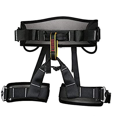 kissloves Half Body Rock Climbing Harness Outdoor Safe Seat Belt Momentum Harness for Mountaineering,Rock Climbing,Fire Rescue