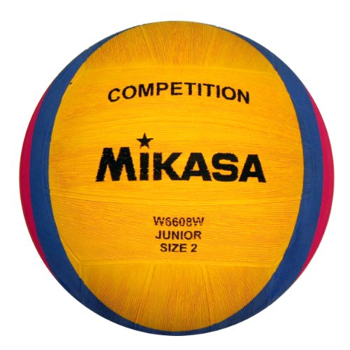MIKASA, Pallone da pallanuoto W6608w, Giallo (Gelb/Blau/Pink)