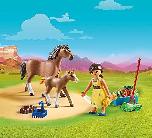 Lucky con caballo y potro Spirit Playmobil (70122)