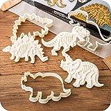 Jeffyo 3 moldes de moldes para galletas con diseño de dinos