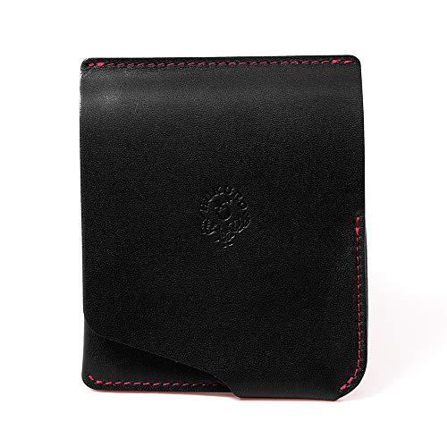 【HUKURO】JITAN 財布 二つ折り 薄い コンパクト 右利き用 本革 栃木レザー (オレンジ)