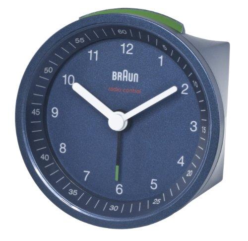Braun wekker met radioklok (ritisch signaal), blauw