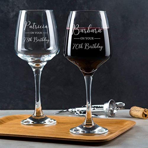 Weinglas zum Geburtstag - Geschenk Oma Geburtstag - Namen und Alter personalisierbar