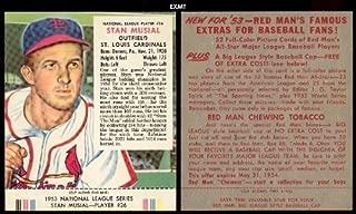 1953 red man baseball cards