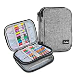ProCase Crochet Hook Case (up to 6.5 Inches), Travel Organizer Zipper Bag for Various Croc...