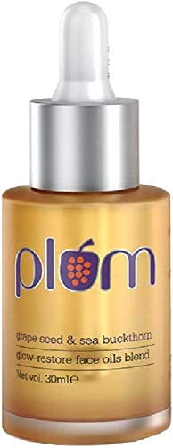 Plum Grape Seed & Sea Buckthorn Glow-Restore Face Oil Blend | For Dry, Very Dry Skin | Hydrates the Skin | Argan Oil ...