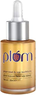 Plum Grape Seed & Sea Buckthorn Glow-Restore Face Oil Blend | For Dry, Very Dry Skin | Hydrates the Skin | Argan Oil | 10...