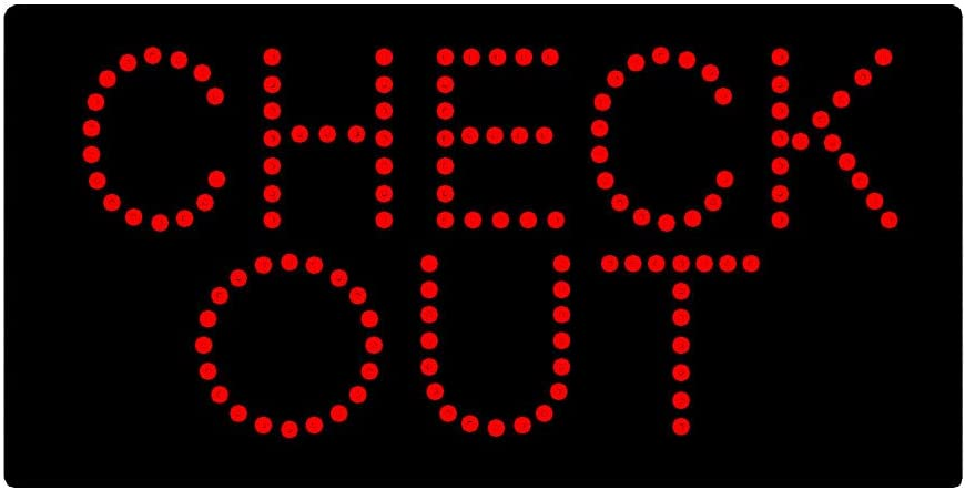 Check Out LED Sign Check Out and Super Bright LED Light Sign 19 x 10