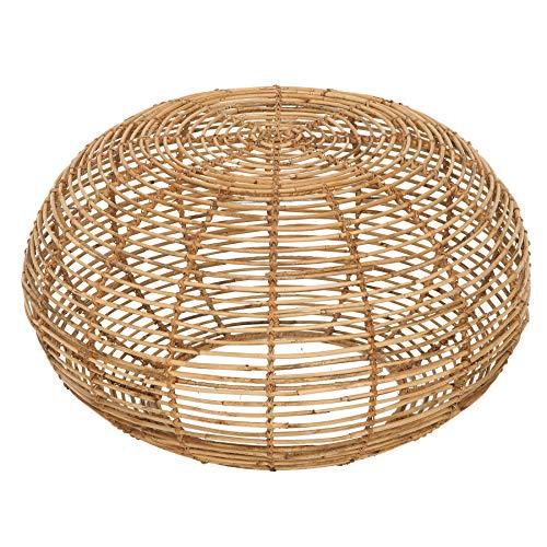 Invicta Interior Handgearbeiteter Couchtisch Bamboo Lounge 70cm Rattan Wohnzimmertisch Natur Beistelltisch Rattantisch