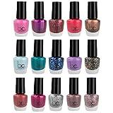 Beauty Concepts Nail Polish Set - Fingernail Polish for Women and Girls, 15 Mini Nail Polish Colors (Glossy and Glitter)