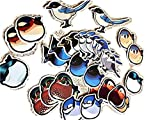 Pegatinas con diseño de pájaros, corvidae, mandarina, ballet norteamericano