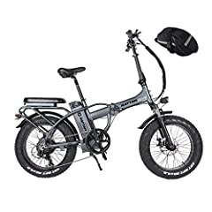 ☆【Electric System】 Electric folding bikes come in three models: electric bikes, PAS, and regular bikes. Rotate the throttle to enjoy free driving. The 750W high-speed brushless motor with 48V 13AH Lithium battery can travel 45 to 50 miles (e-bike mod...