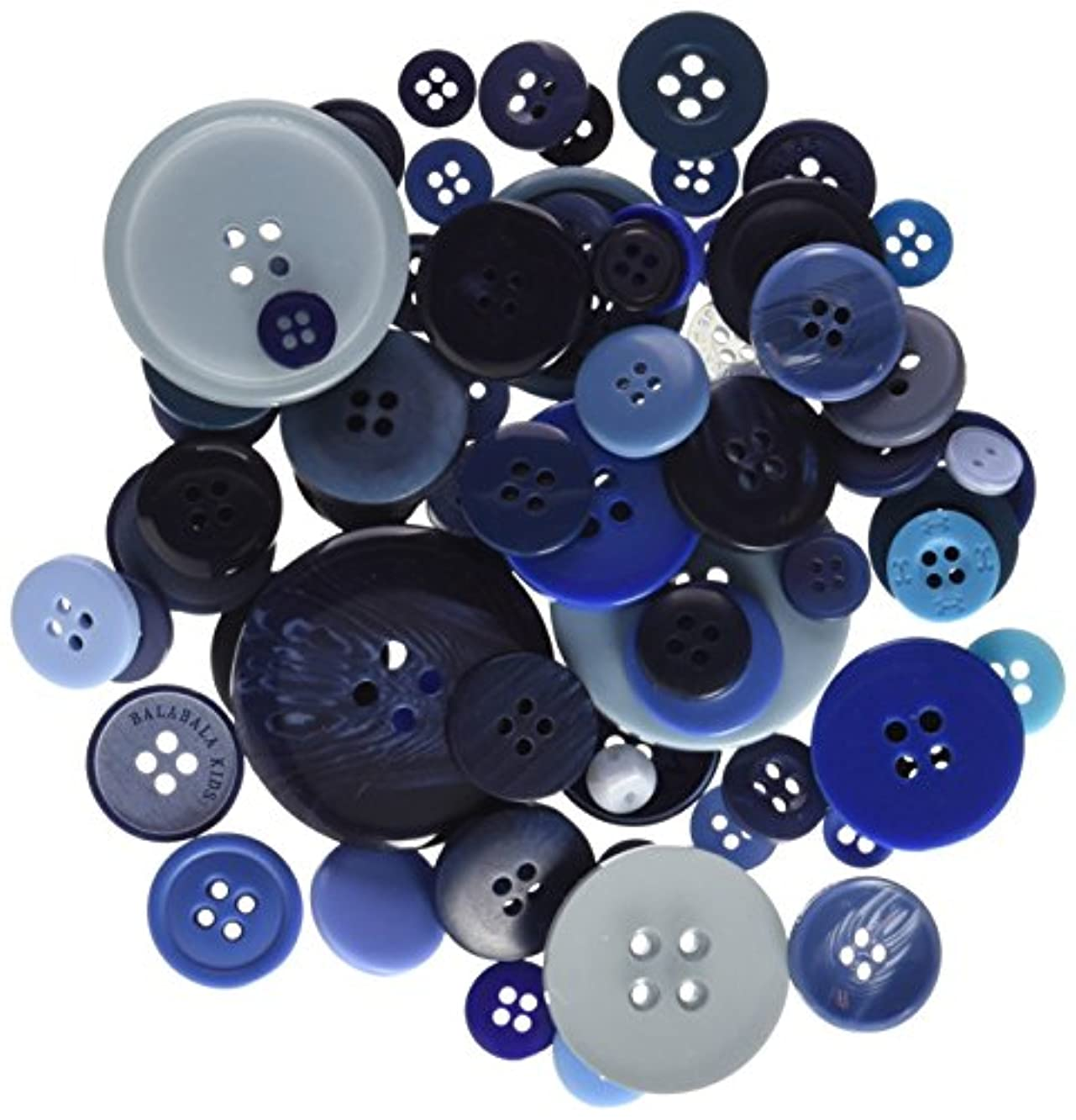 DOCrafts Papermania Buttons Assorted, Blue, 250gm