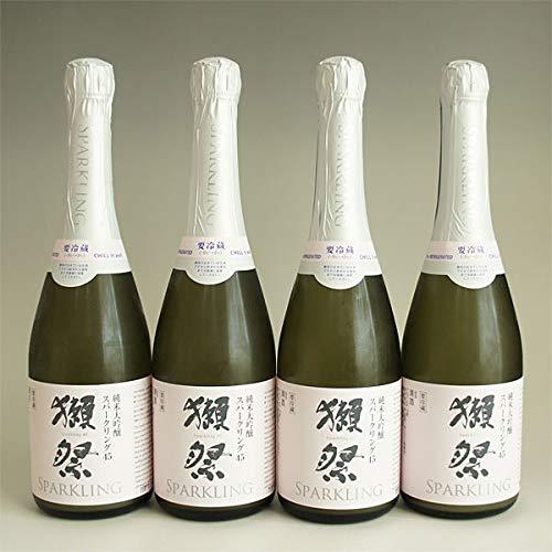 獺祭 純米大吟醸 日本酒セット 獺祭 発泡スパークリング 45 720ml 4本 Br 要冷蔵 クール代込み ギフト対応不可