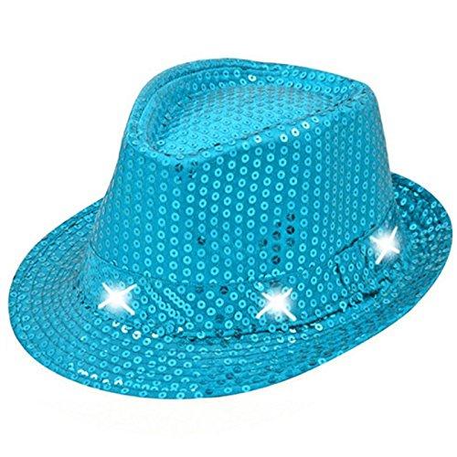 Annastore Hut mit Pailetten und LED´s in herrlichen Farben (türkis)