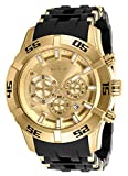 Invicta Men's Sea Spider Quartz Watch with Stainless Steel and Polyurethane Strap, Black, 26 (Model: 26534)