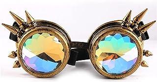 Amandakasa メガネ 万華鏡 特殊効果 超軽量 カーニバルメガネ サングラス 3D 音楽祭 回折メガネ 男女兼用 ホリデーアクセサリー レディース マジックラブ メンズ