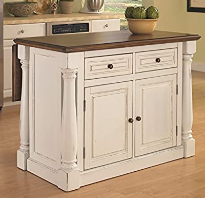 Monarch White Kitchen Island by Home Styles from