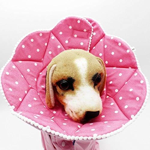 Elektronische halsband, bedrukt, van polyester, voor huisdieren, maat M, L