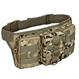 FATTERYU Outdoor Utility Waist Pack Pouch Military Camping Hiking Bag Belt Bags 9
