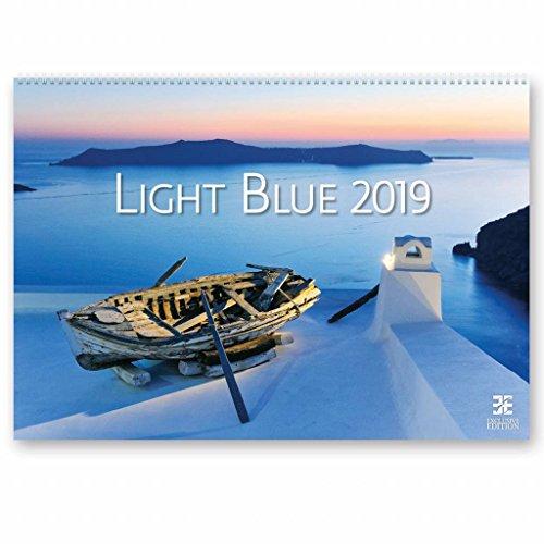 Kalpa 2019 Calendario de pared | Calendario 2019 | 49 x 34 cm | Azul claro
